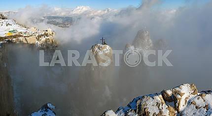 Rocks Ah-petri in clouds