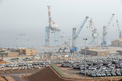 cars in the port