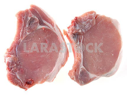 Pork steak with a stone