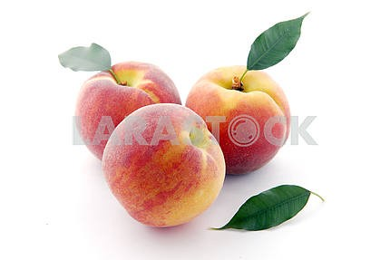 peaches and leaves