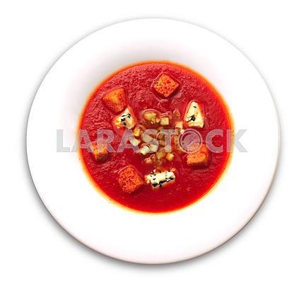 Испанский суп гаспачо помидоры