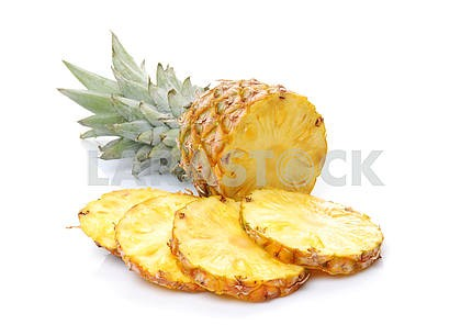 Pineapple and its slices