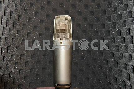 Studio microphone in paralonovym niche.