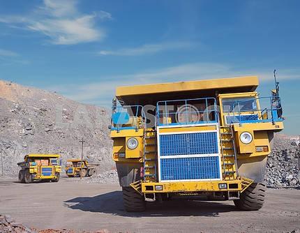 Three big trucks