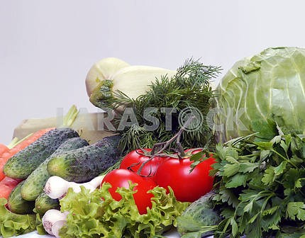 Set of different vegetables