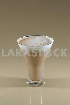 Mug of layered caffe latte
