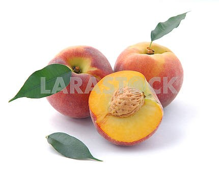 Peaches and a half and leaves