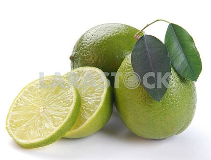 Green lime with a half