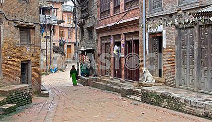 Streets Ancient Bhaktapur (Bhaktapur)