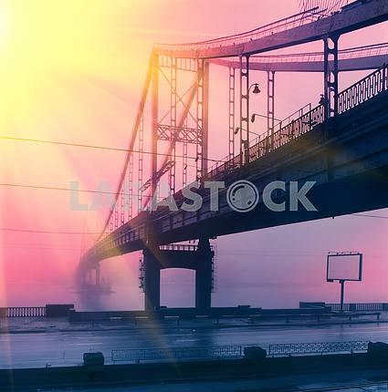 Пешеходный мост на Труханов остров