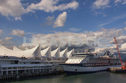 Cruise ship in port