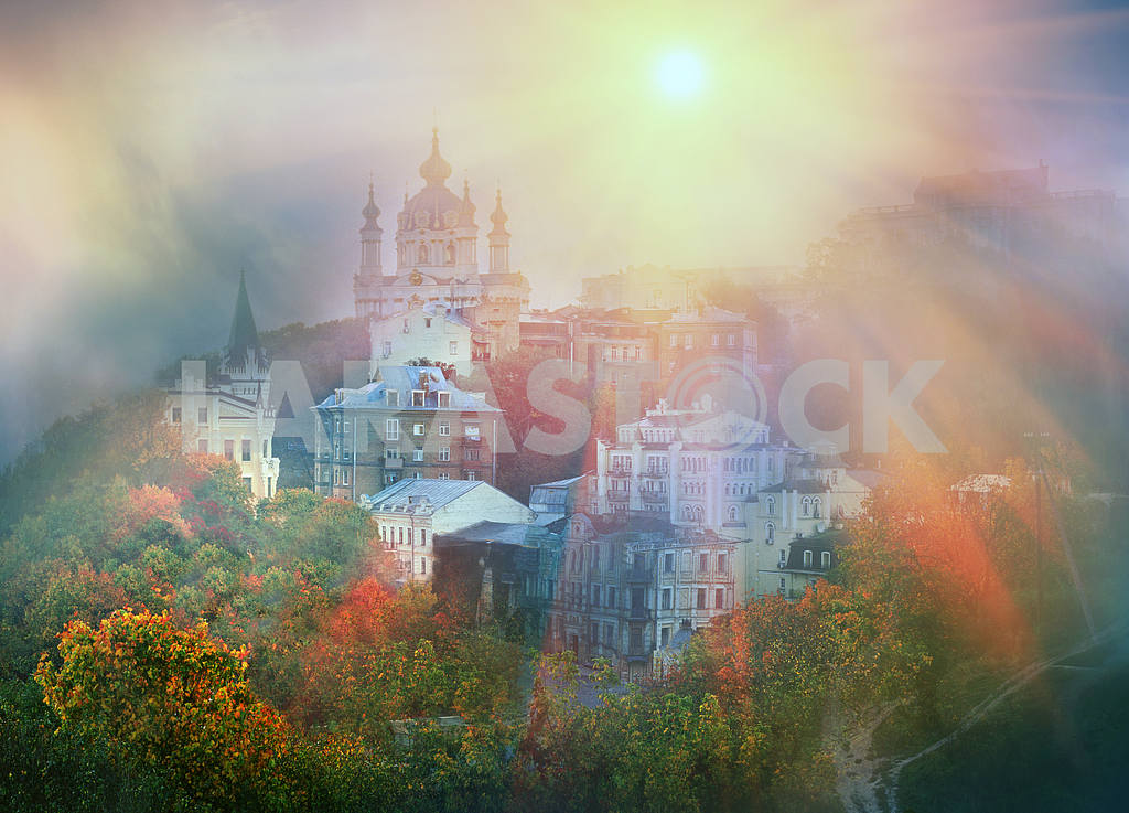 View of St. Andrew's church in Kiev — Image 3288