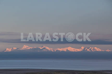 Panoramic view of snow-capped mountains Anchorage, Alaska, USA