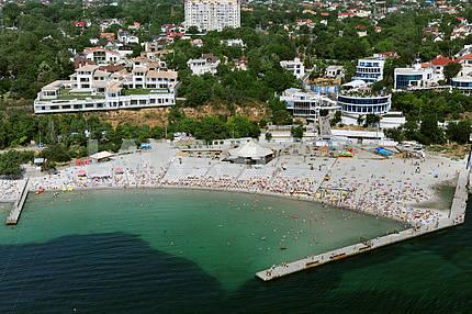 Одесса. Аэрофотосъемка. Пляж в Аркадии 27 сентября 2011 года