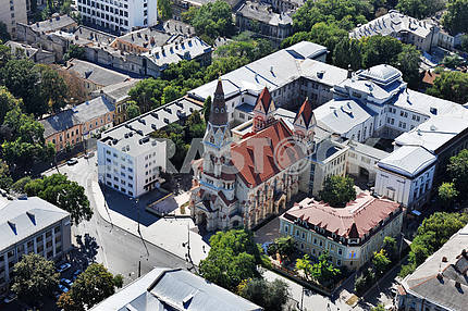 Odessa. Aerial view. St. Paul's Cathedral 27 September 2011
