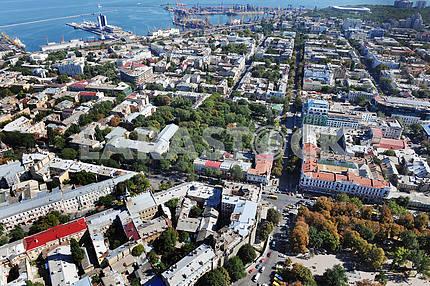 Odessa. Aerial view. Deribasovskaya Street 27 September 2011