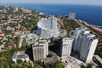 "Odessa. Aerial view. House ""White Sail"" in Arcadia, 27 September 2011"