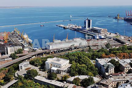 Одесса. Аэрофотосъемка. Морской вокзал 27 сентября 2011 года