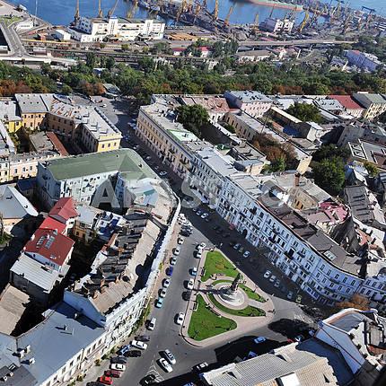 Odessa. Aerial, Ekaterininskaya Square