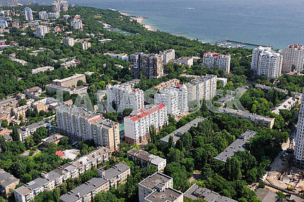 Odessa. Aerial view. Arcadia and Franntsuzsky Boulevard September 27, 2011