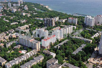 Одесса. Аэрофотосъемка. Аркадия и Франнцузский бульвар 27 сентября 2011 года