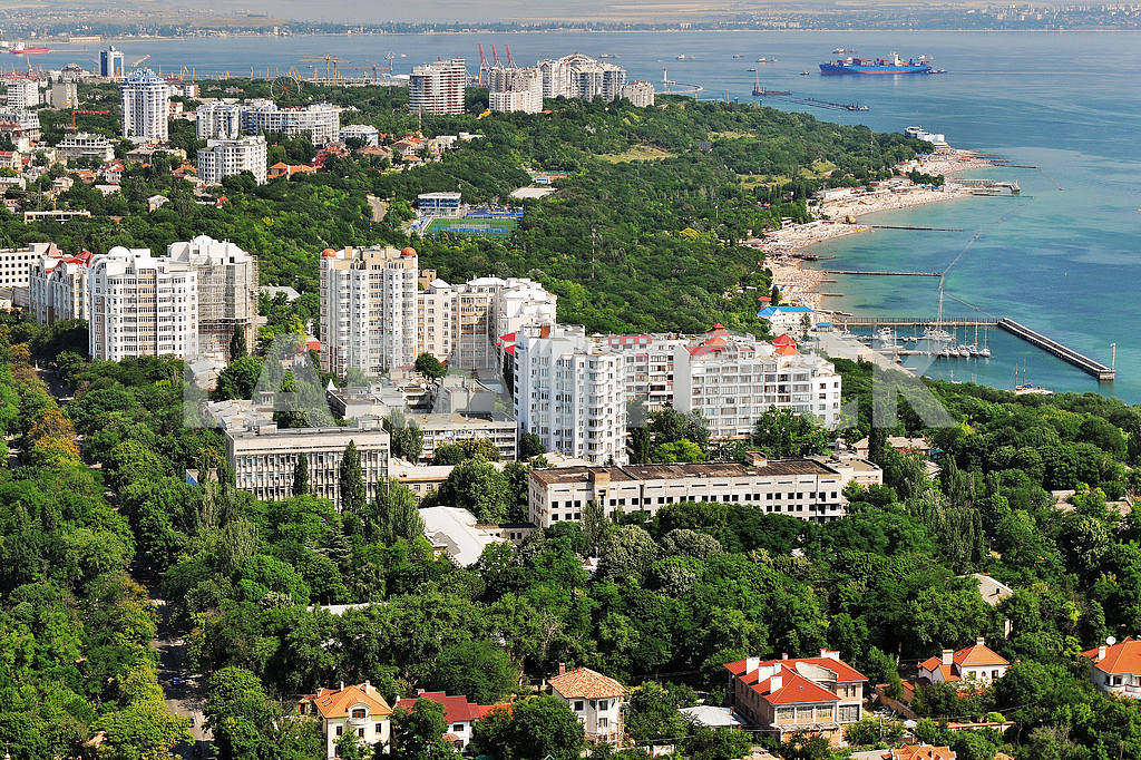 Odessa. Aerial view. Arcadia and French Boulevard September 27, 2011 — Image 33382