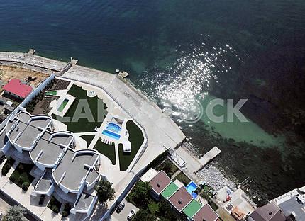 Одесса. Аэрофотосъемка. Пляж в Аркадии 27 сетября 2011 года