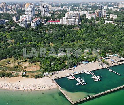 Odessa. Aerofotosemka. Yacht Club in Arcadia, 27 September 2011