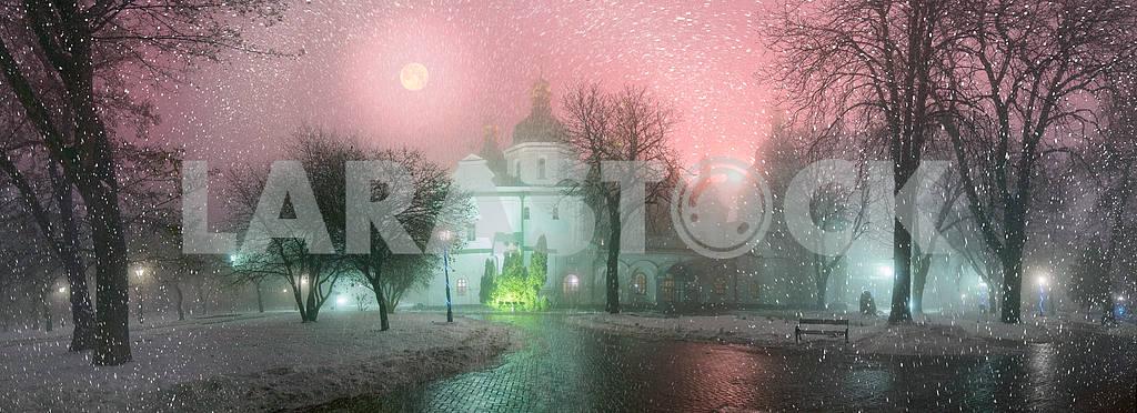Blizzard and rain enveloped Kiev — Image 3340