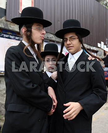 Children Hasidim in Uman