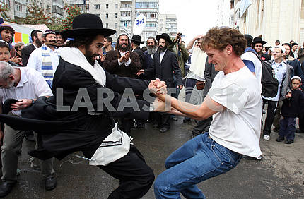 Hassid dancing with the locals in Uman
