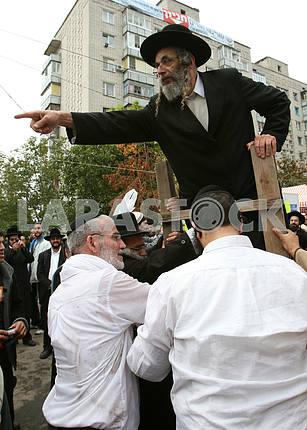 Uman Hasidim have fun on the street
