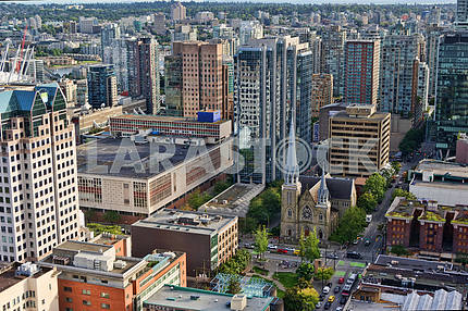 Canada, Vancouver aerial view.