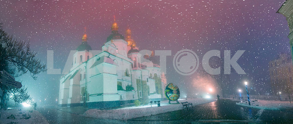 Blizzard and rain enveloped Kiev — Image 3366