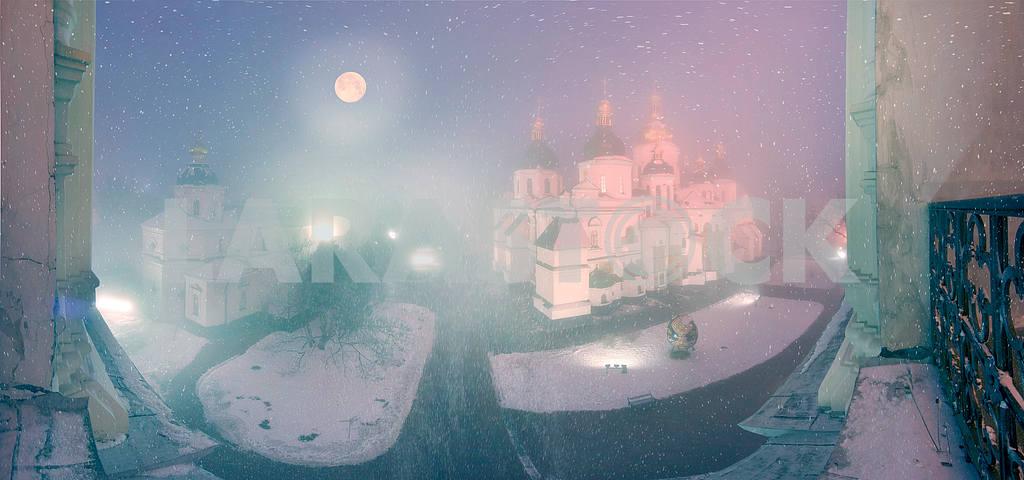 Blizzard and rain enveloped Kiev — Image 3378