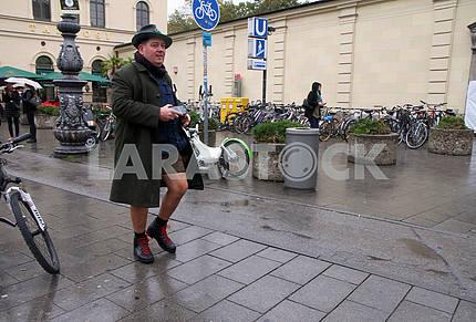 Bavarian man in hat