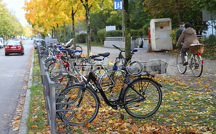 Bicycle parking in Munich