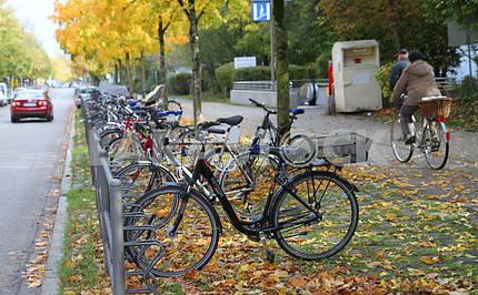 Велопарковка в Мюнхене