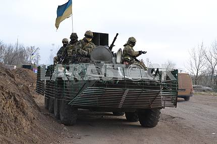 Ukrainian troops in the zone ATO