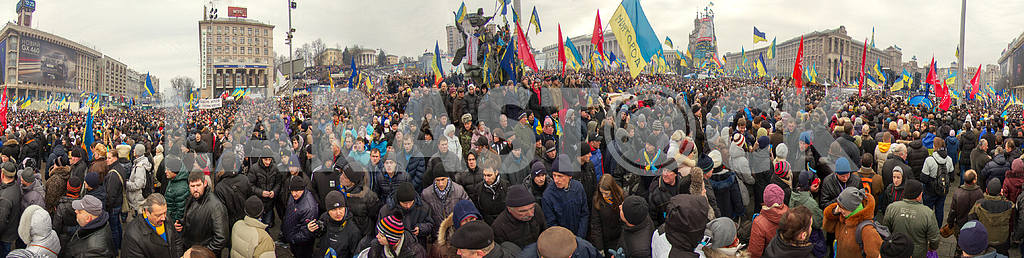 Mass protest against the pro-Russian Ukrainians course Presiden
