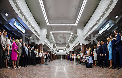 Poroshenko opened in Kharkiv metro station