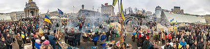 Mass protest against the pro-Russian Ukrainians course Presiden