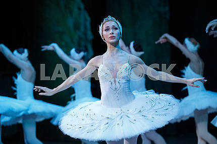 "Yana Salenko in the play ""The Swan Lake"""