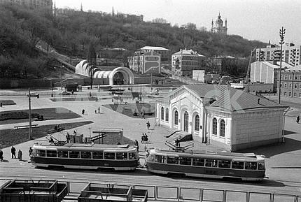 Panorama of the Postal Square in Kiev