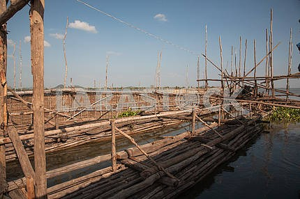 Trough of eyebrows and ropes fishing cooperative, Tonle Sap Lake,