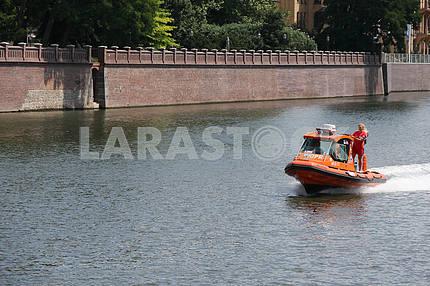 Poland. Life speed boat