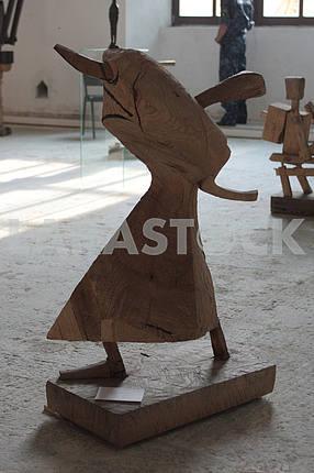 """Sculpture Baba Yaga in the """"Art arsenal"""""""