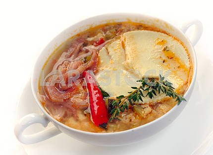 Vegetable soup from zucchin