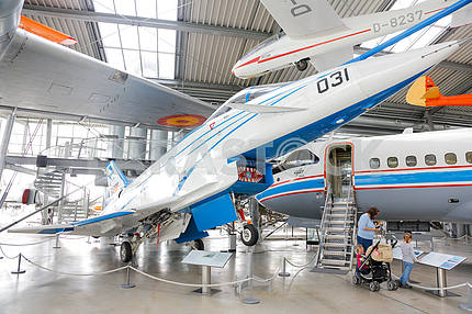 Aviation museum in Oberschleissheim, Germany - May 25, 2016