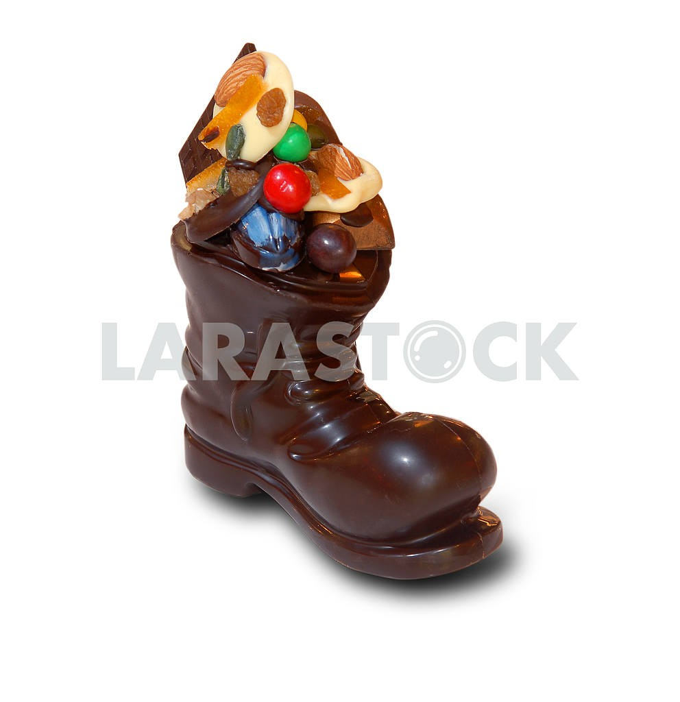 Christmas chocolate boot with gifts — Image 3605